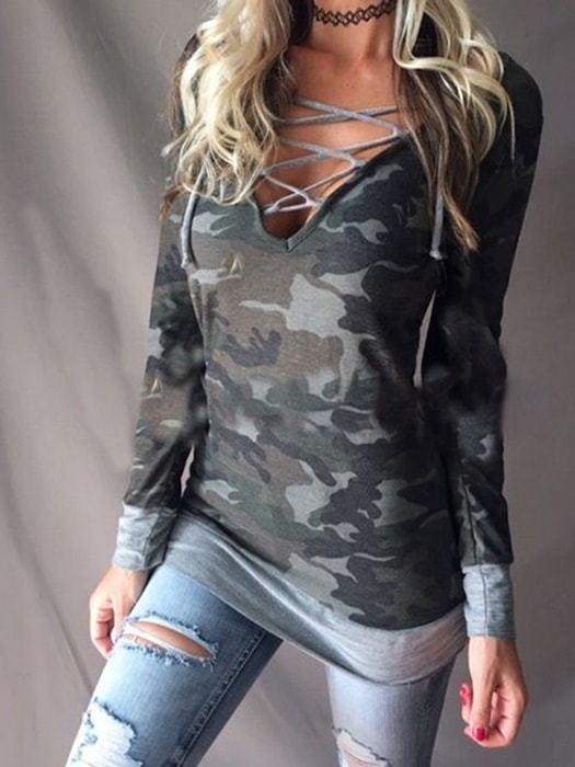 c05870640a596 Laced Up Camo Shirt – WhatsMode