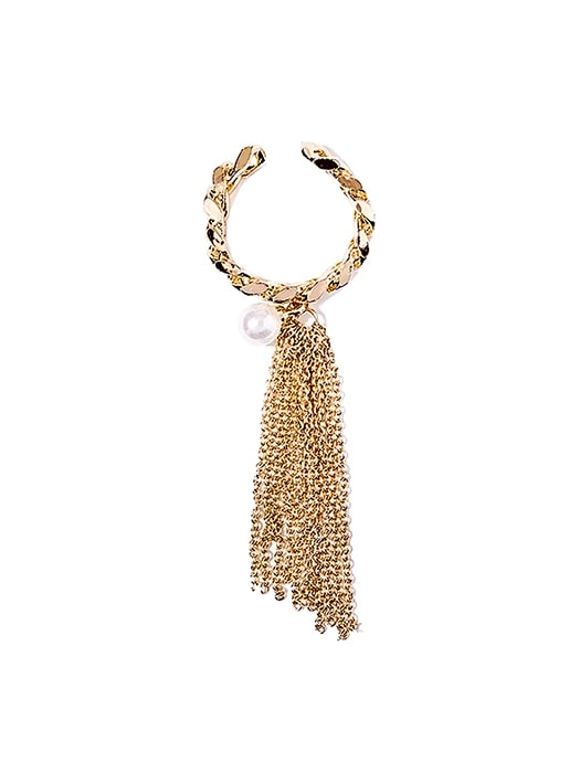 Chain Figure Tassel Fan Ring