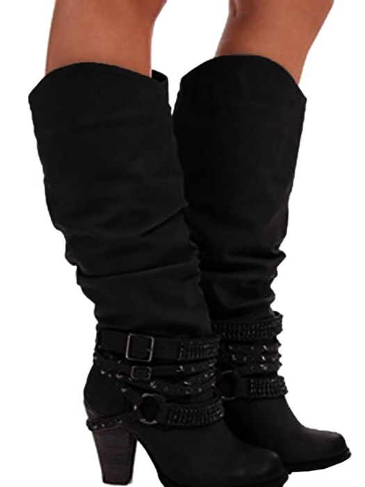 f68e8c219698f Buckle Strap Heeled Boots – WhatsMode