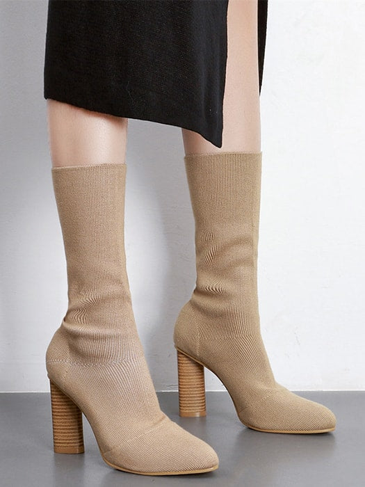 a9c8ca28f65 Ribbed Knit Sock Boots – WhatsMode