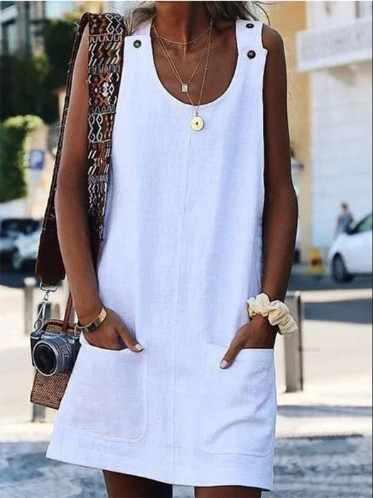 Gradient V-neck Sleeveless Casual Cami Dress