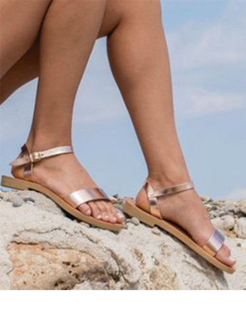 aaaf1291149 Ankle Strap Rose Gold Sandal