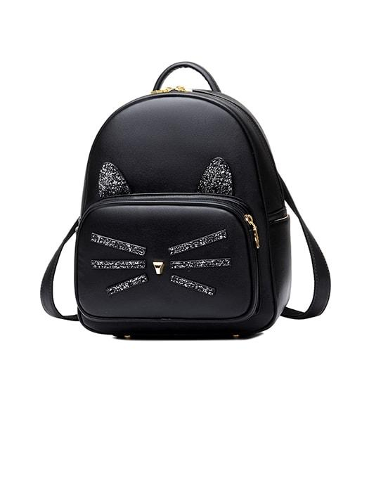 Fancy Sequins Kitten Travel Backpack