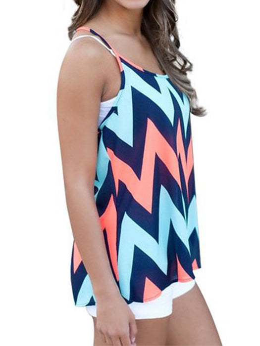 Colorful Zigzag Cami Top