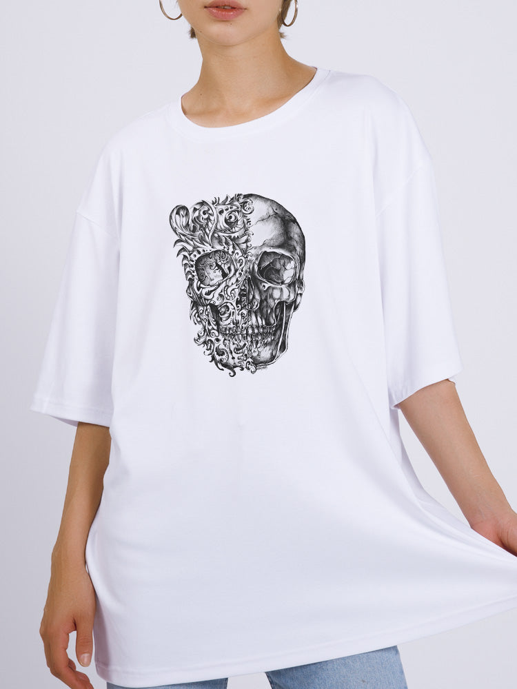 50 Shades Of Skull Oversized Tee