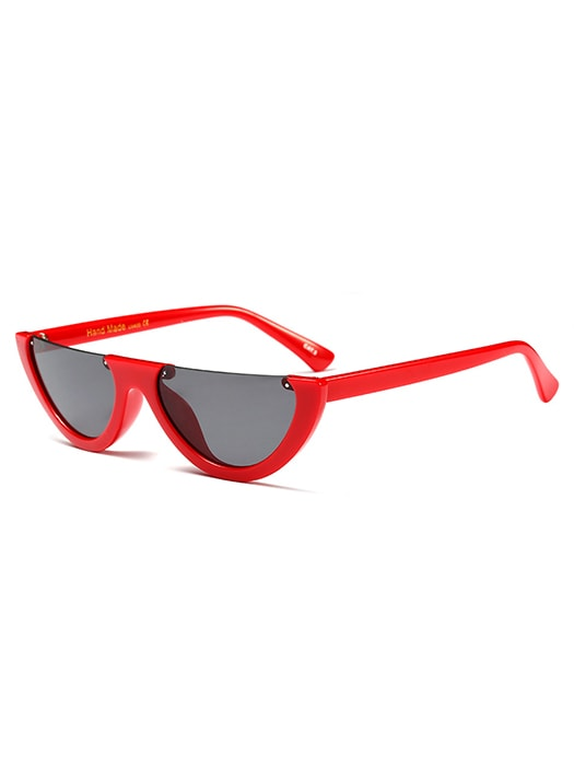 Cat Eye Half Frame Sunglasses