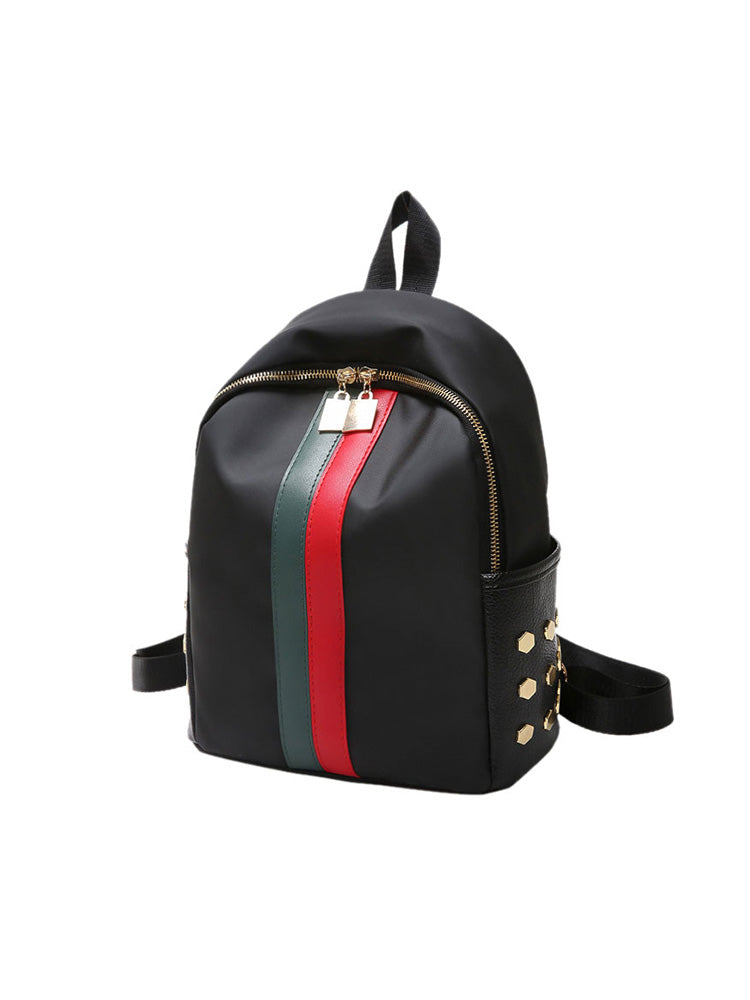 Street Style Striped Backpack
