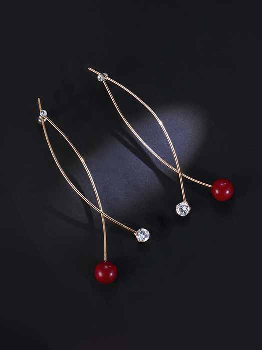 Cherry & Shine Thread Earrings