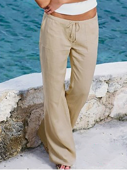 Loose Stretch High Waist Wide Leg Long Pant