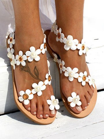 7710cc740 Flower Casual Slip On Flip-flops Sandals.  30.99 USD.  55.99 USD. Greek  Style Toe Ring Sandals