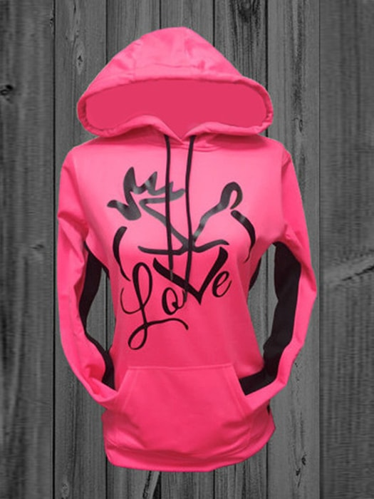 Casual Hooded Sweatshirt With Drawstring