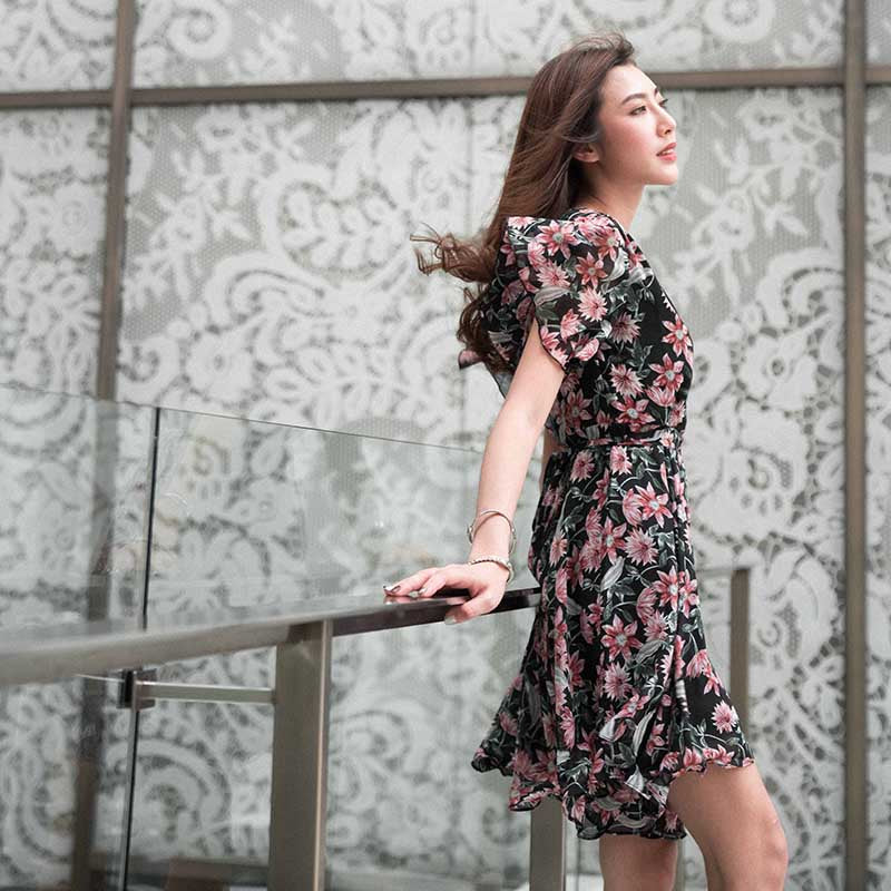 Sweet Floral Swing Dress