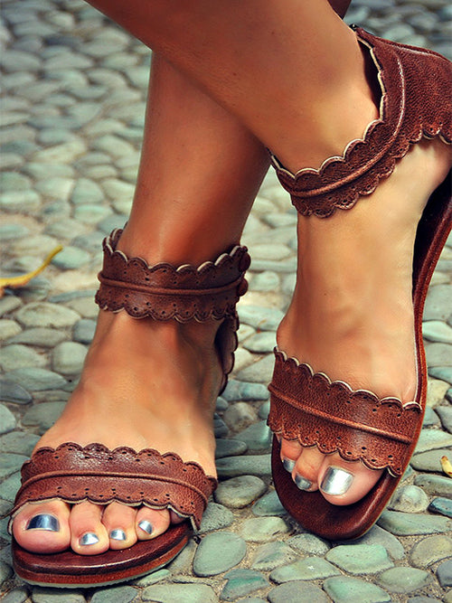 16d3b495e Breathable PU Flat Zipper Sandals