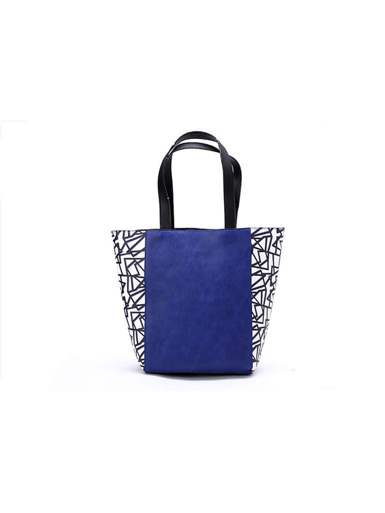 BLANCO Blue Printed Canvas Handbag