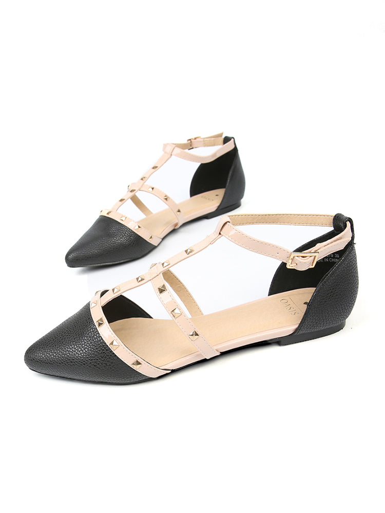 Refined Studed Flat Sandals