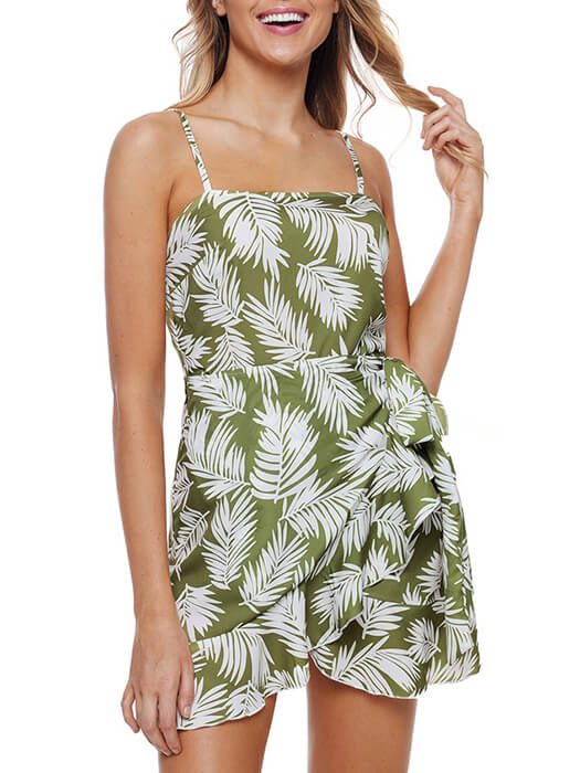 c6bfadf49cdde Floral Print Ruffle Trim Square Neck Cami Dress – WhatsMode