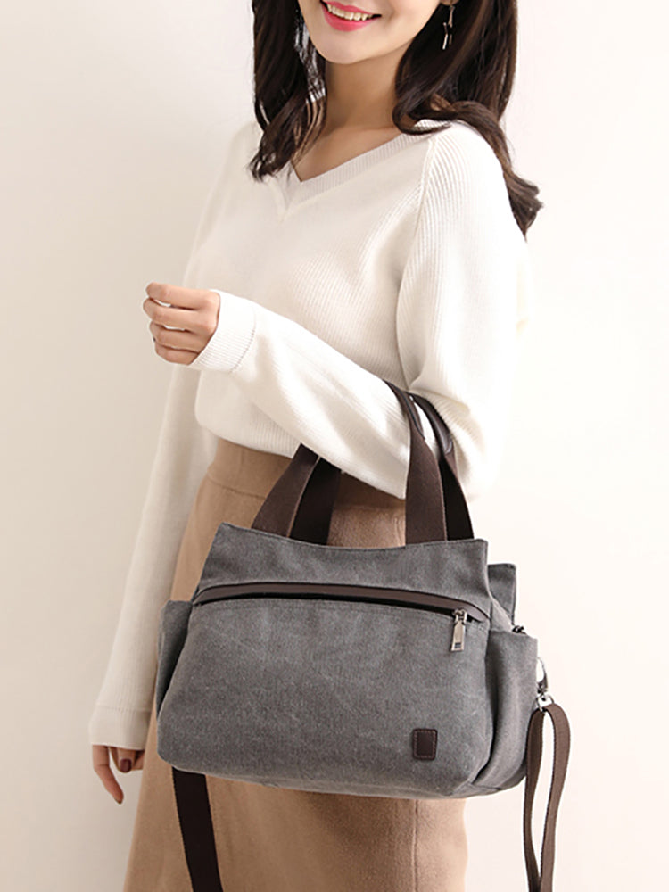Pastel Colored Canvas Tote Bag