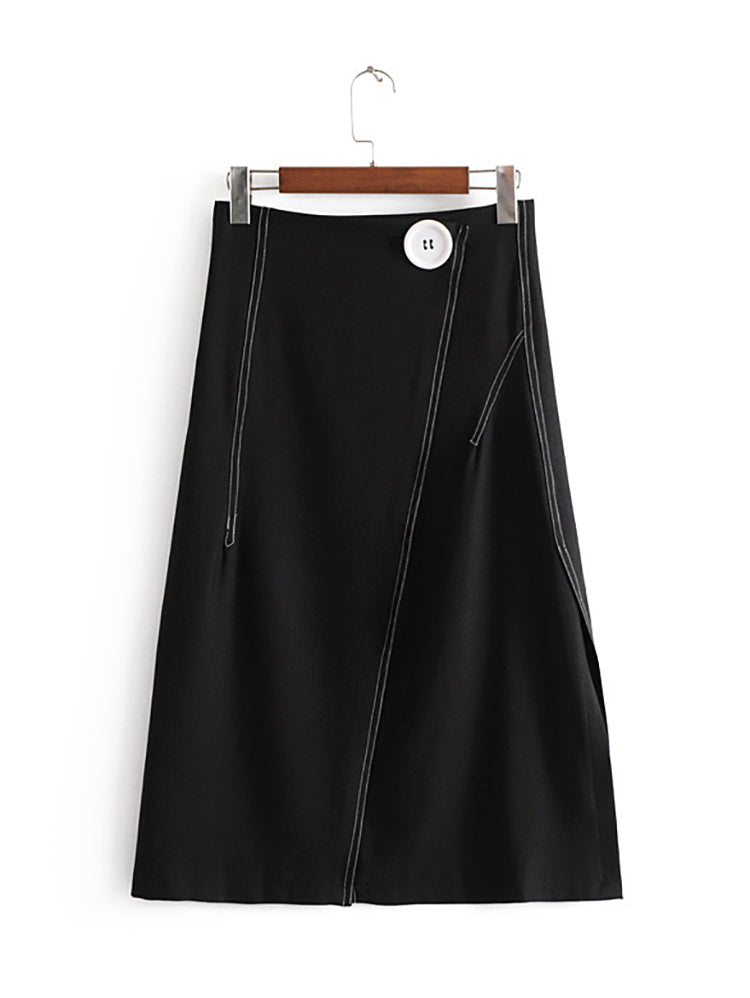 A-line Skirt With Split