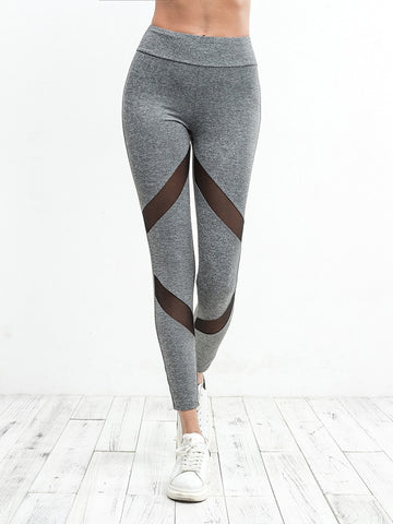 High Waist Sweat Pants With Ripped Knees