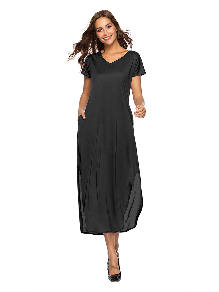 Women's Split Strap Pocket Dress