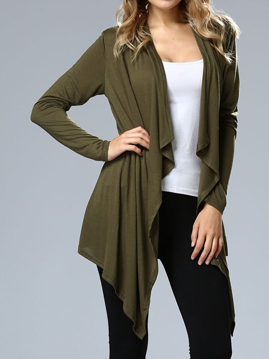 Cropped Solid Color Cardigan