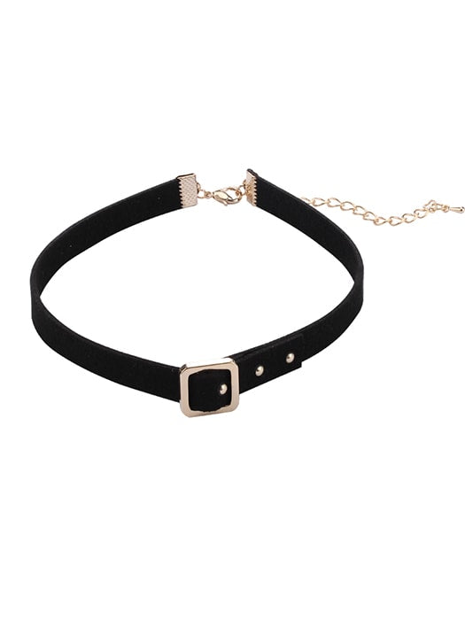 Belt Figure Black Choker