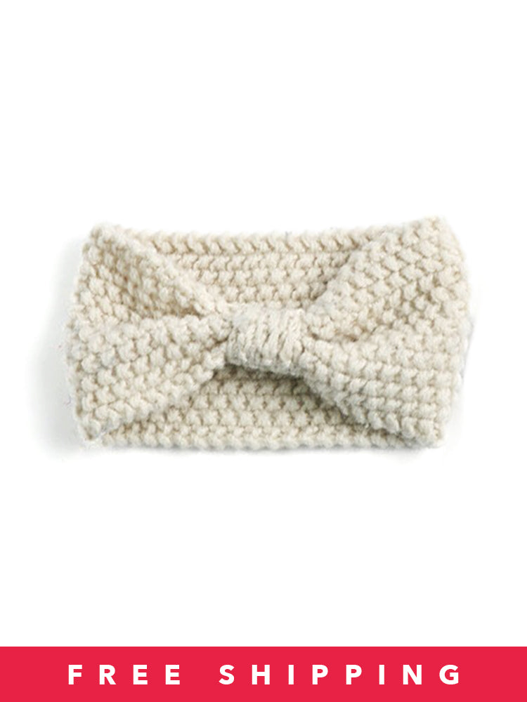 Corn Knitted Bowktie Warm Headband