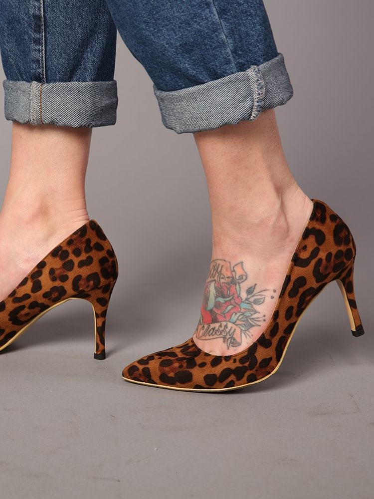 Leopard Pointed Heels