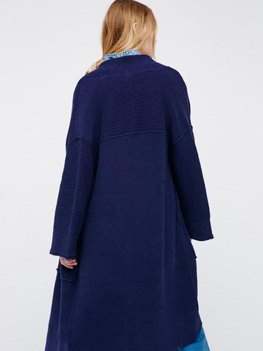 Oversized Ribbed Chunky Cardigan