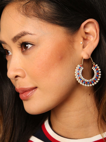 Fanned Tassled Earrings