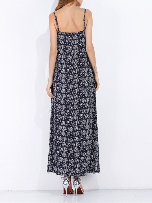 Chiffon Floral Print Slip Dress