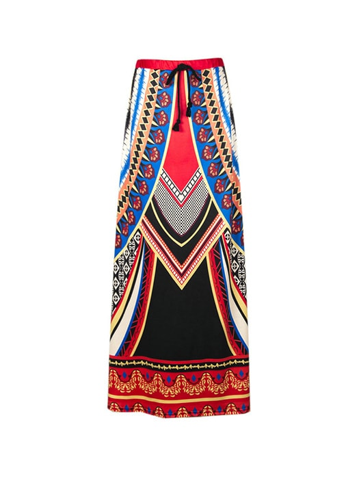 Exotic High Waisted Maxi Skirt