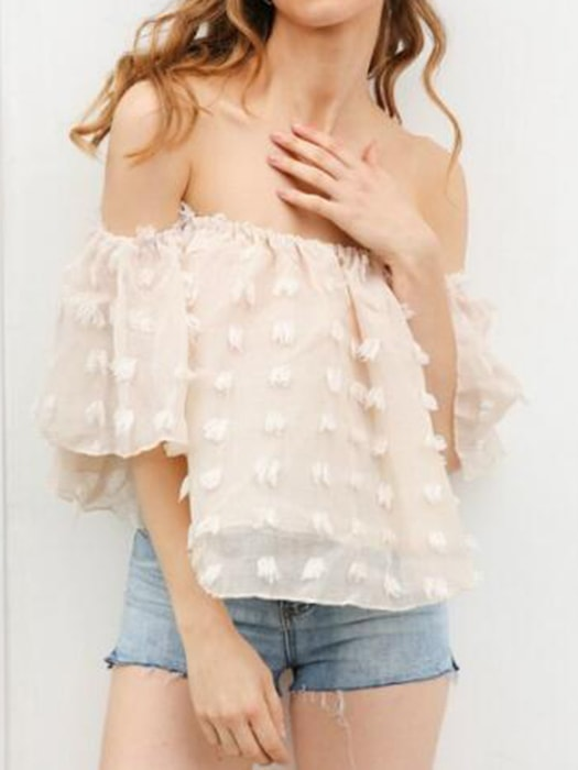Boat Neck Sexy Chiffon Top