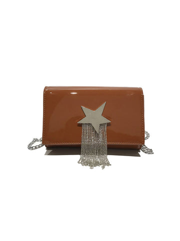 Vintage Buckle Closure Cross Body Bag