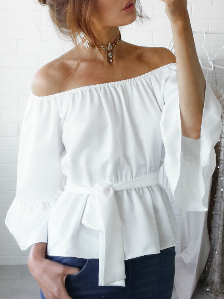 Elegant Off Shoulder Shirt