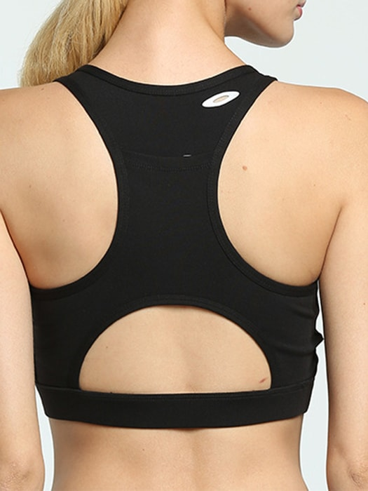 Push Up Seamless Sports Bra With Pocket Back