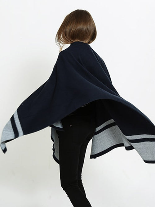 Oversized Woven Blanket Shawl Scarf