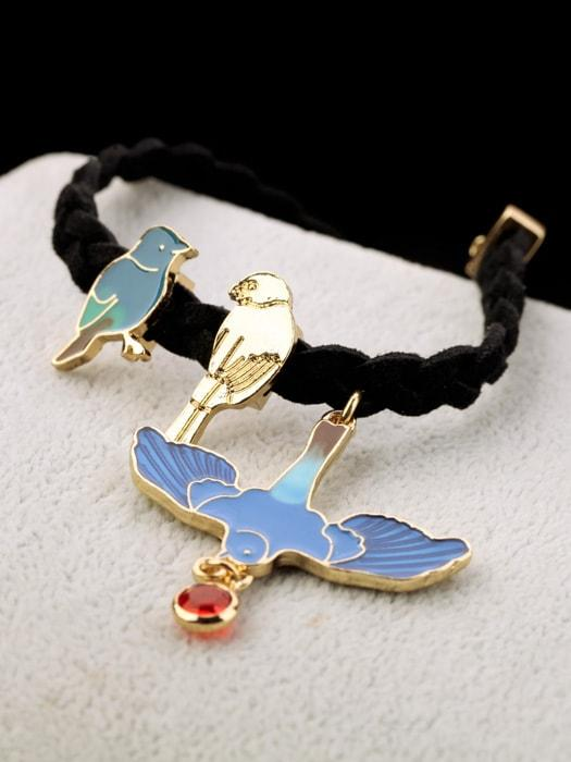 Bird Pattern Knit Bracelet