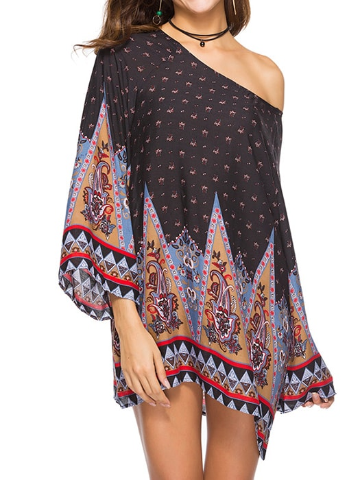 Baroque Printed Loose Dress