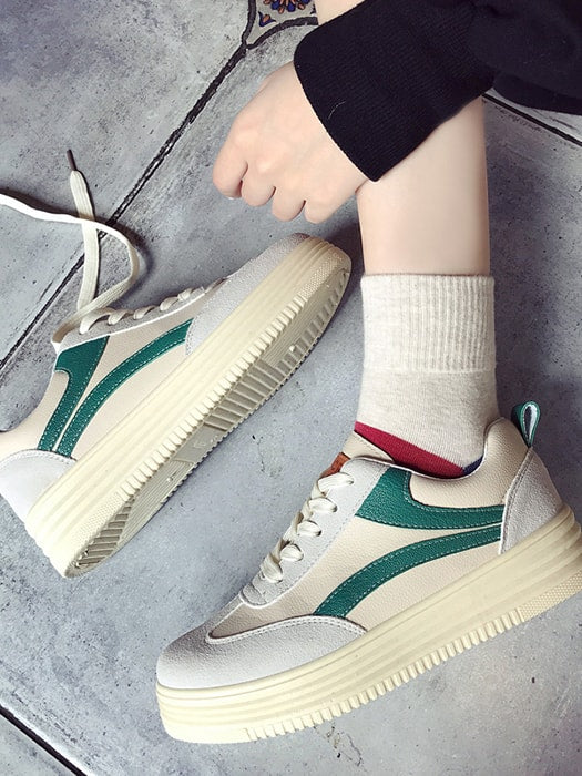 Faux Suede Moulded Tread Sneakers