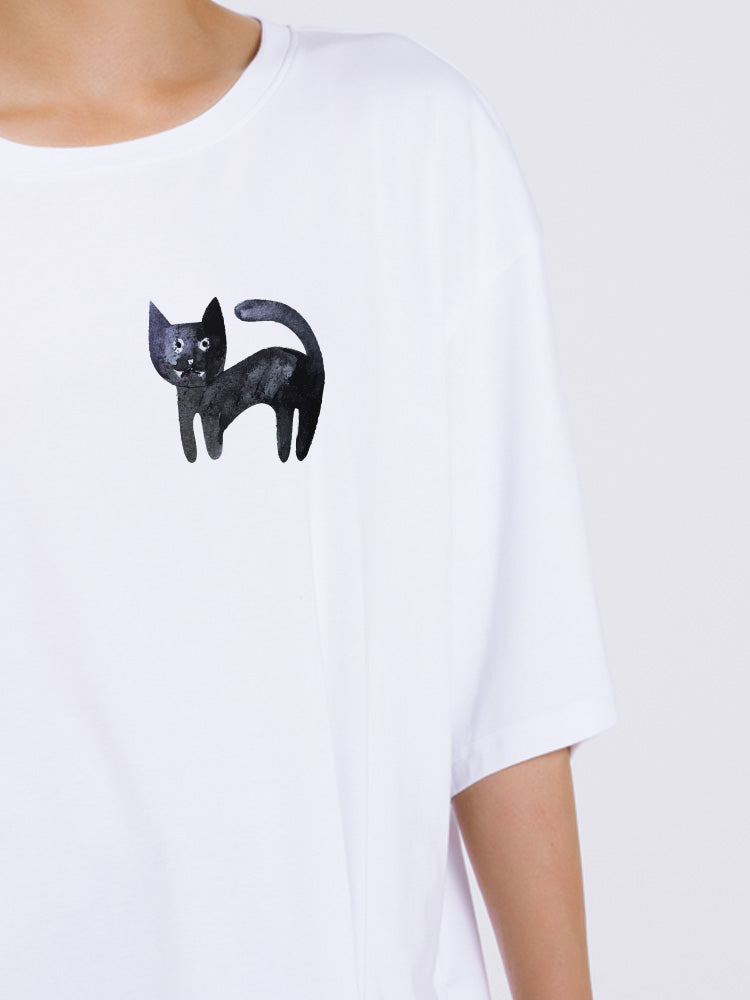 Lovely Kitty Catty Oversized T-shirt