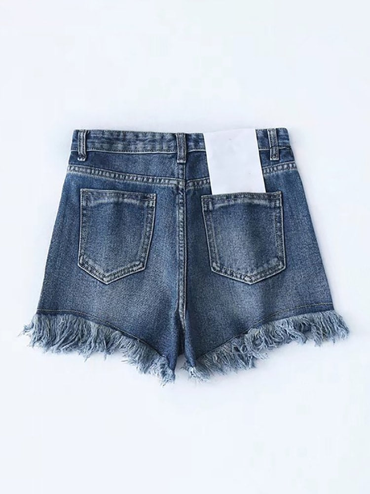 Vintage Washed Denim Shorts