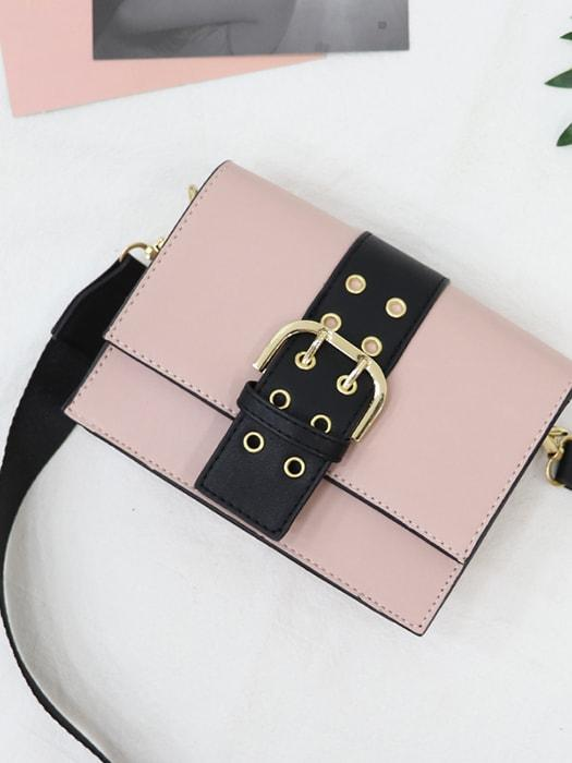 Magnet Button Contrast Color Bags