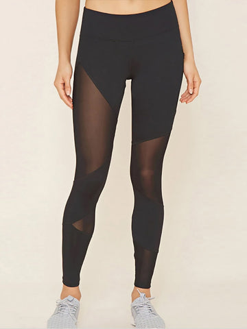 Yoga Suit With Lace Up Front Details