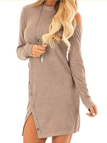 Women Long Sleeve Round O-neck Oblique Striped Pullover Sweatshirt