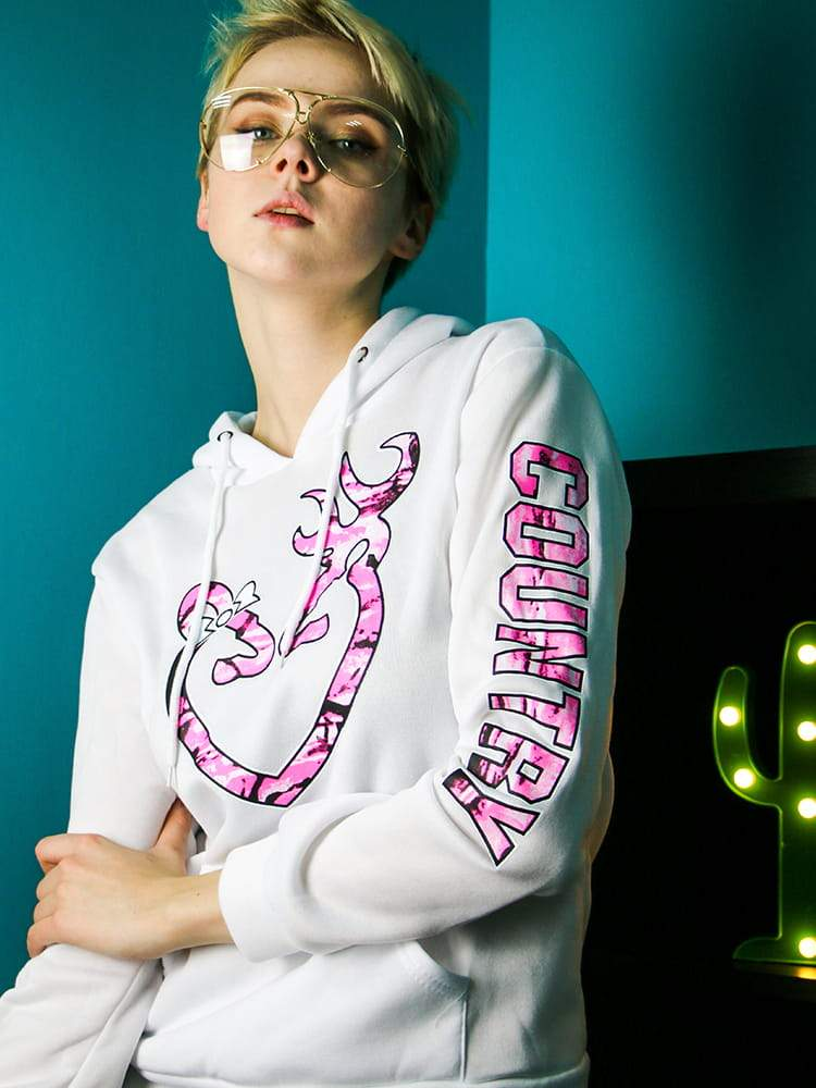 Burning Heart Drawstring Hoodie With Letter