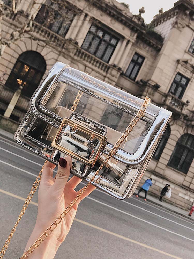 Chic Transparent Cross Body Bag