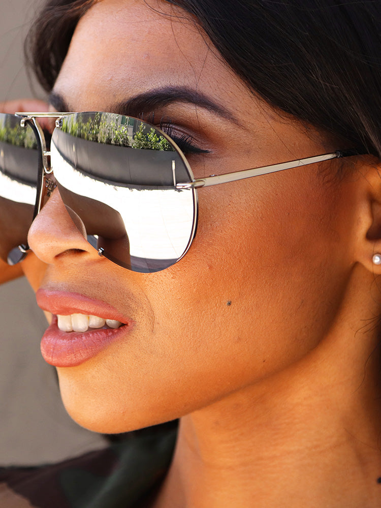 Chic Metal Mirrored Sunglasses