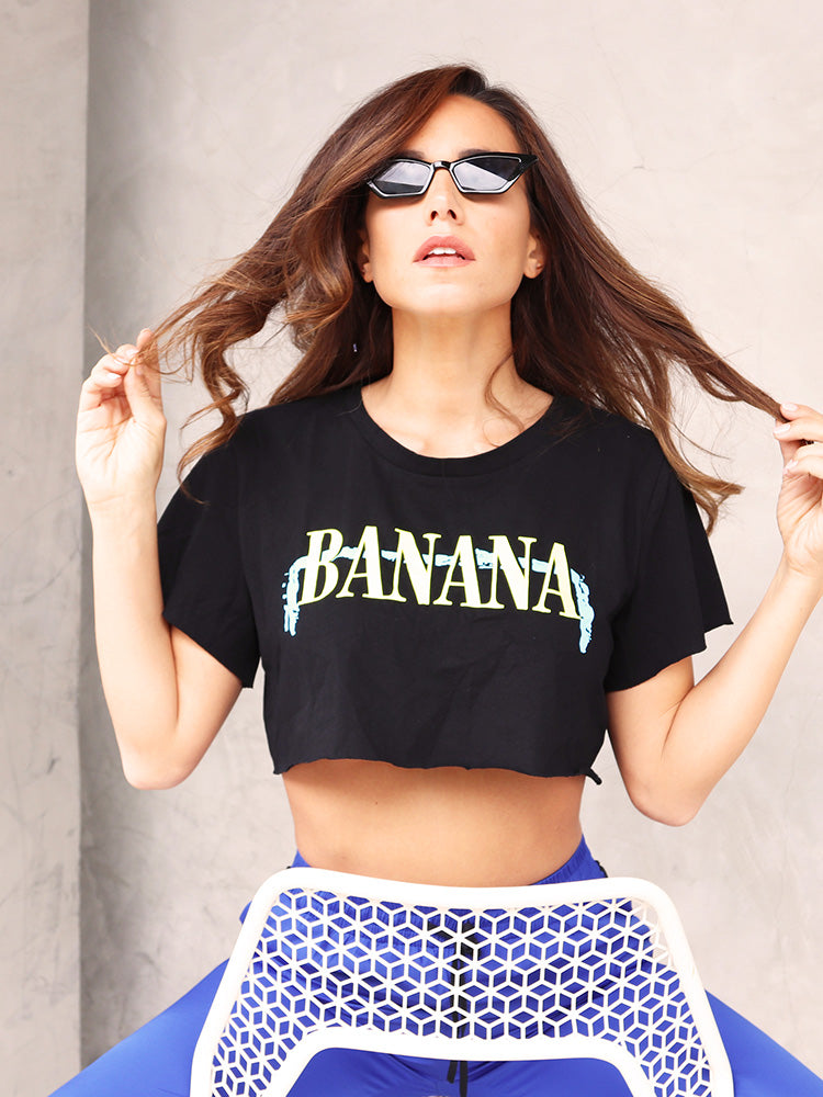 Street Style Banana Cropped T-shirt