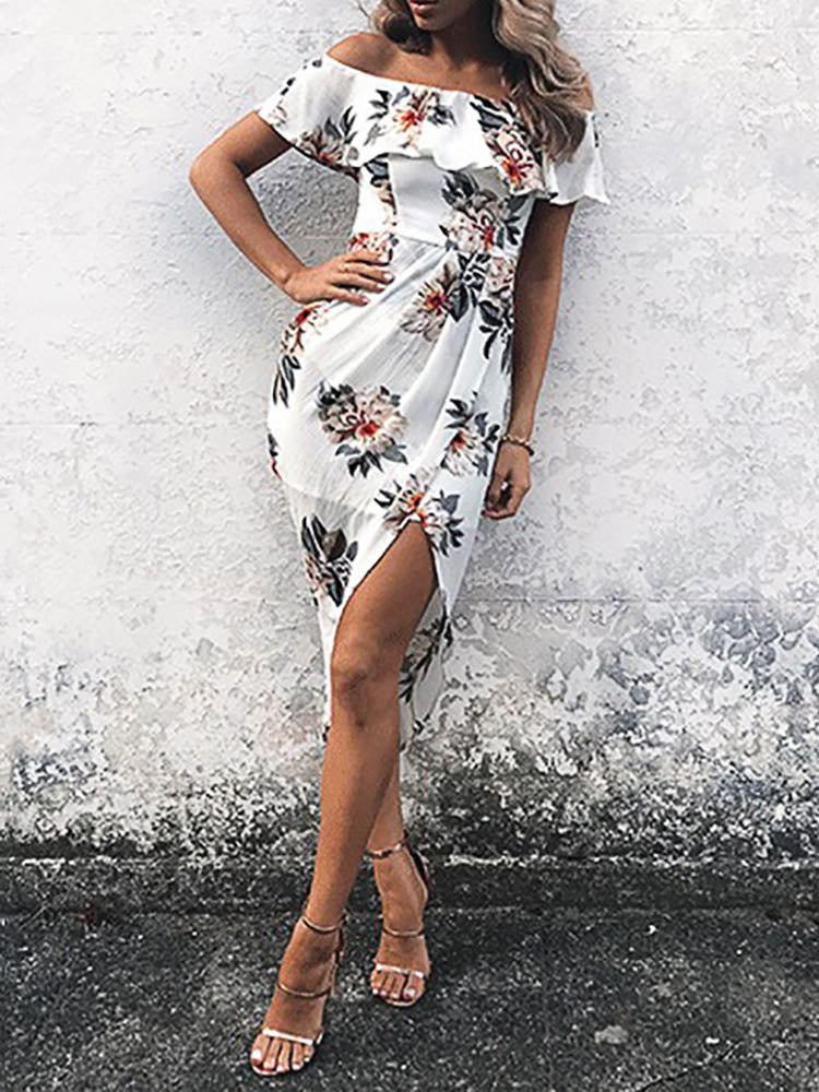 Sexy Bodycon Off Shoulder Dress